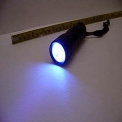 Linterna de luz ultravioleta (UV)-12 Leds- Color: NEGRO 5